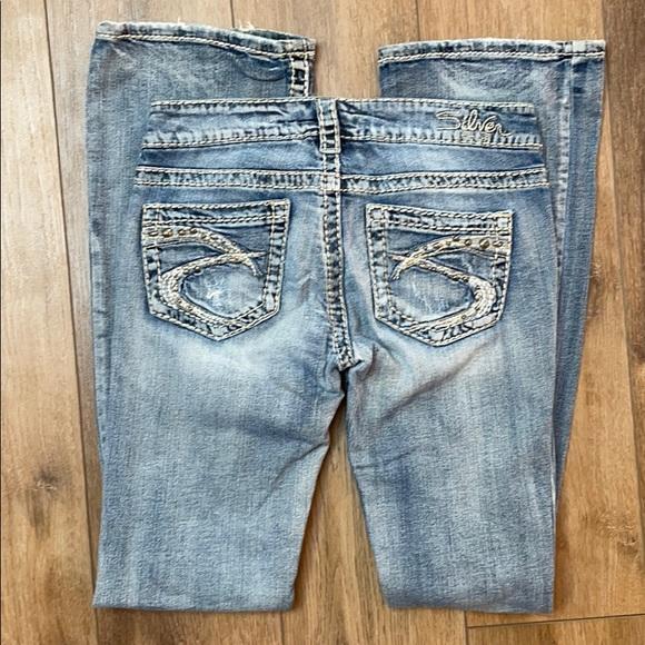 Distressed Silver Jeans W26/L33